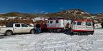 Dieron refugio a 180 personas varadas por nevada en La Rumorosa
