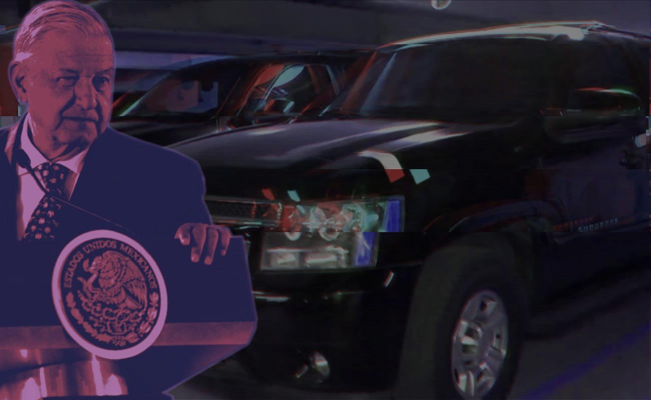 """Harán """"tianguis"""" para vender vehículos del EMP; lo recaudado irá a la Guardia Nacional: AMLO"""