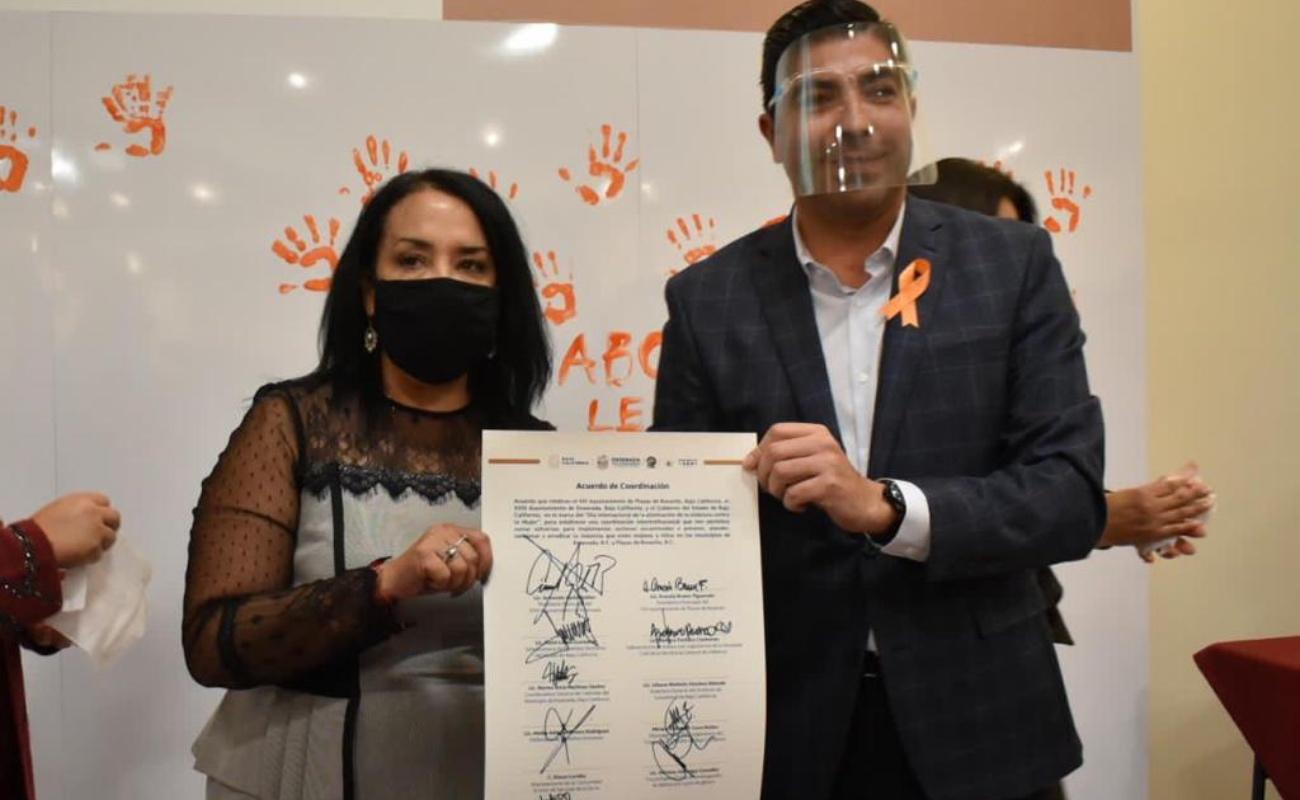 Suscriben Ensenada y Playas de Rosarito convenio para prevenir la violencia contra la mujer