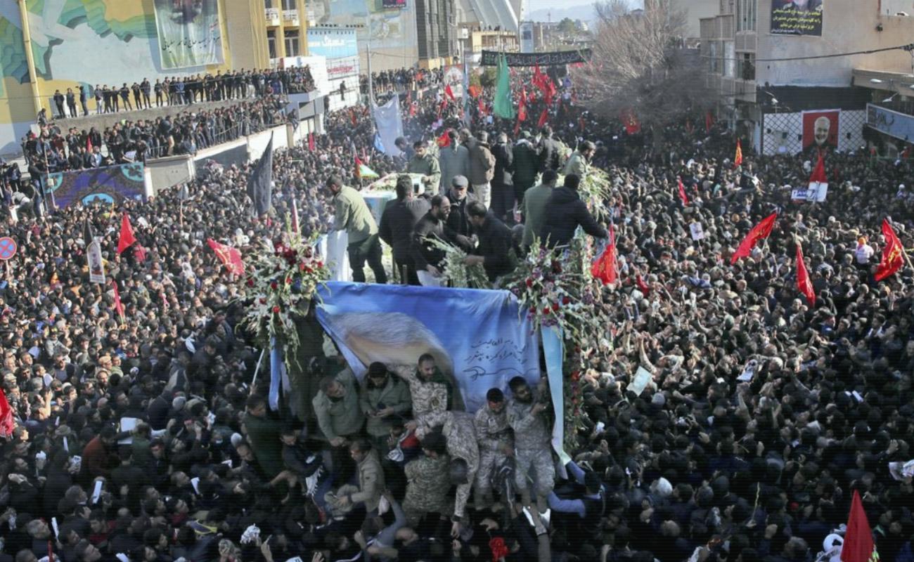 Estampida en funeral del general Soleimani mata a 40 personas