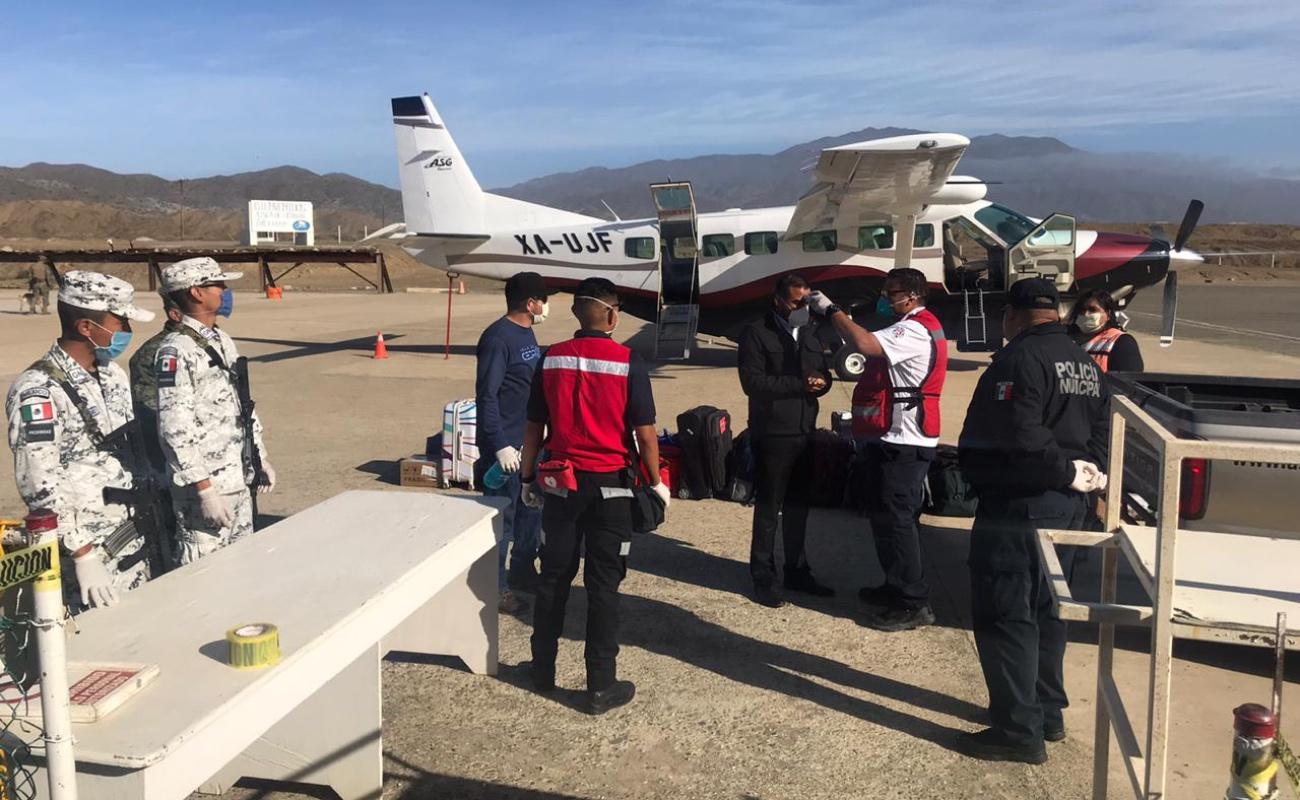Internan en Ensenada a primer paciente Covid de Isla de Cedros