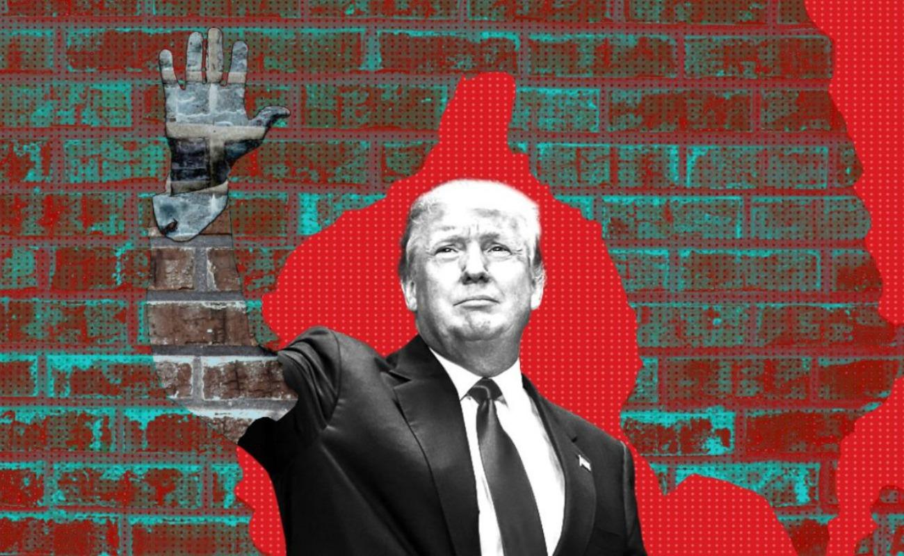 Trump afirma México está pagando por muro fronterizo con el T-MEC