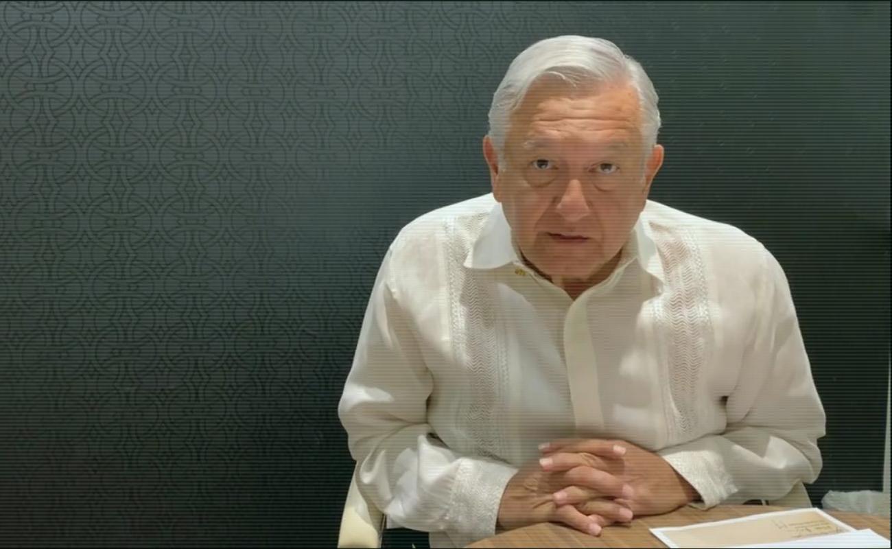 López Obrador da positivo a Covid-19, asegura tener síntomas leves