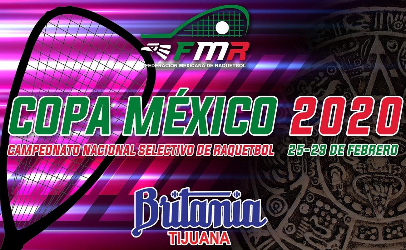 Tijuana será sede de la Copa México 2020 de Raquetbol