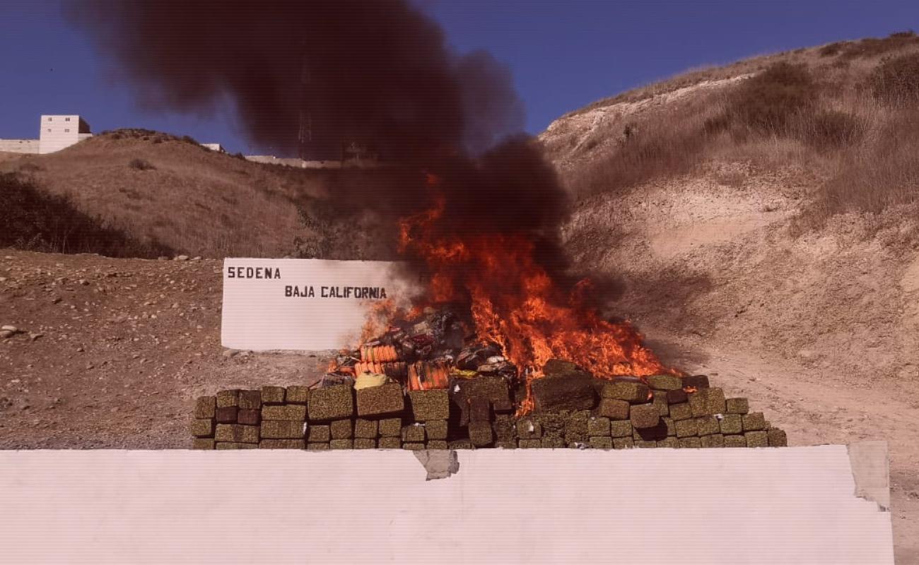 Incineran 3.8 toneladas de droga en Tijuana