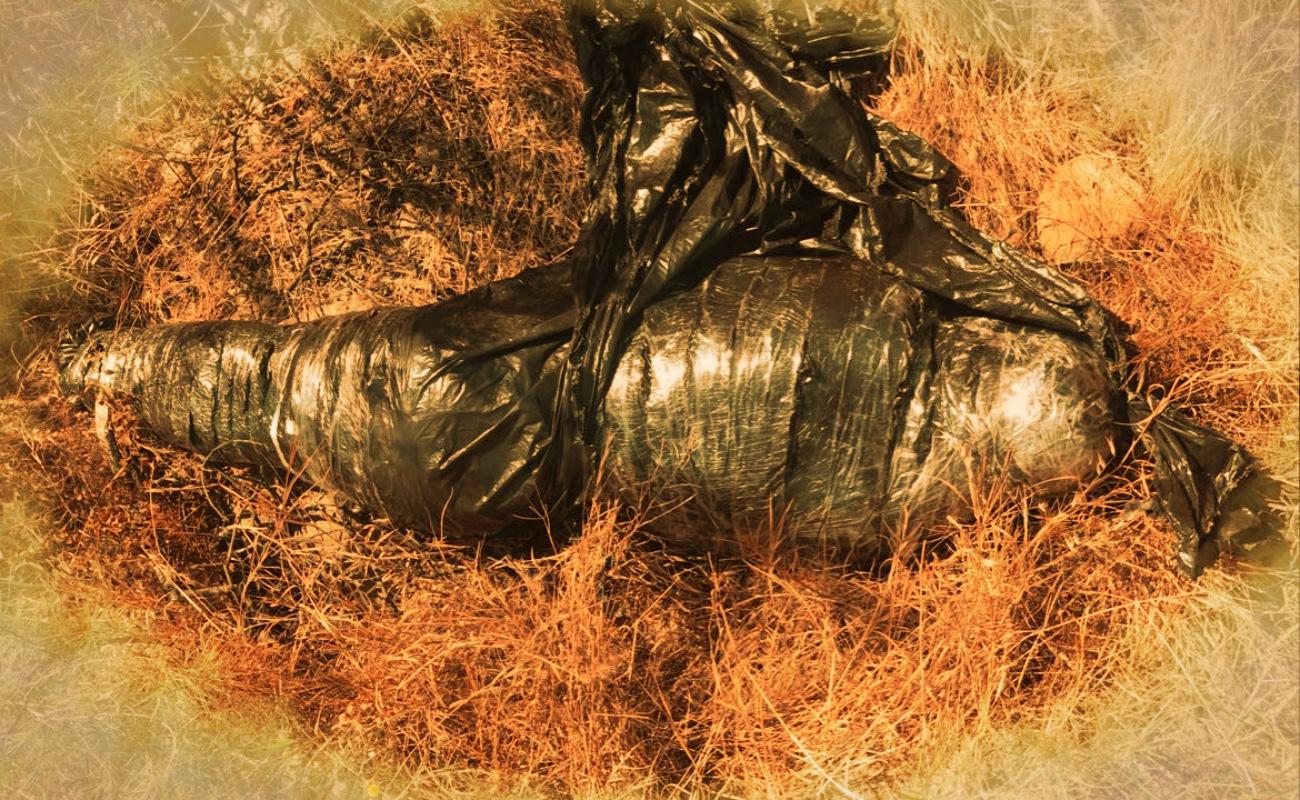 Hallan cadáver embolsado en Rancho Lázaro Cárdenas