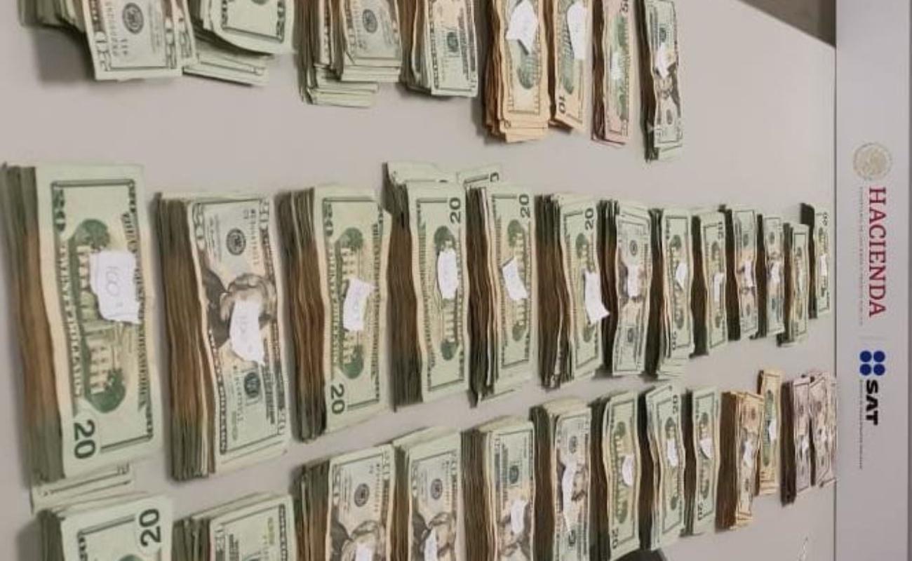 Detienen a sujeto que intentaba cruzar más de 60 mil dólares por El Chaparral