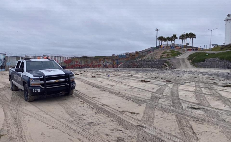 Reportan 200 visitantes en playas de Tijuana el domingopese a cierre por Covid