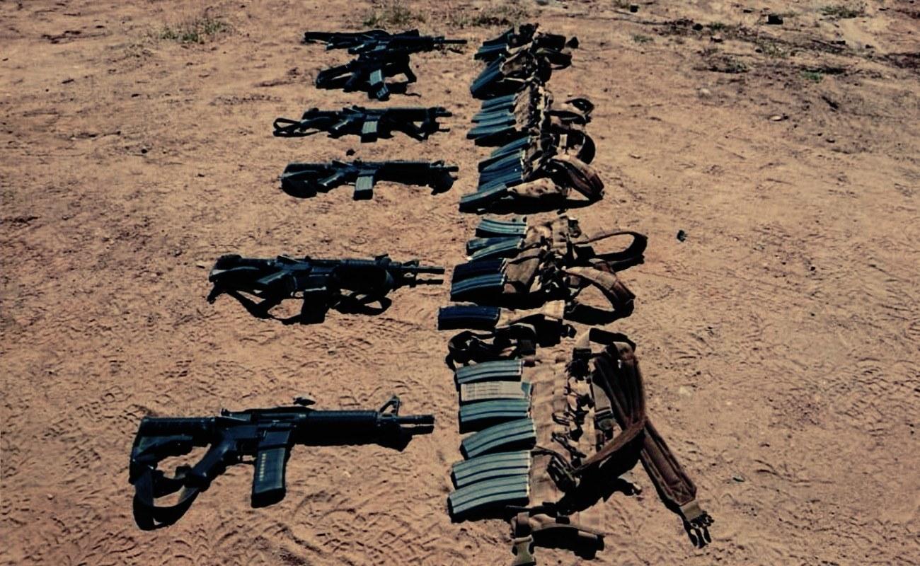 Batallón de Infantería asegura arsenal al sur de Ensenada