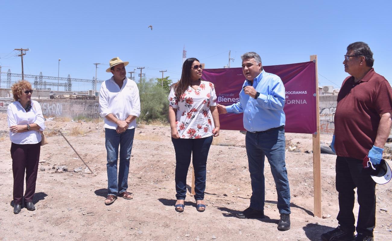 Tercer Banco del Bienestar se construye en el Ejido Orizaba, de Mexicali