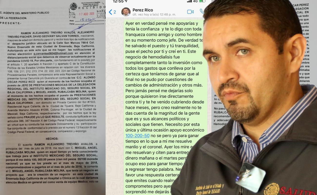 """Difunden denuncia por """"moches"""" contra Pérez Rico"""