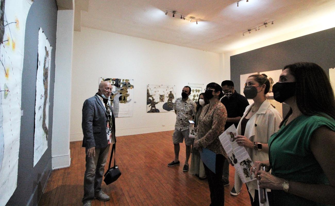 Expone Casa de la Cultura de Tijuana muestra del pintor Franco Méndez Calvillo