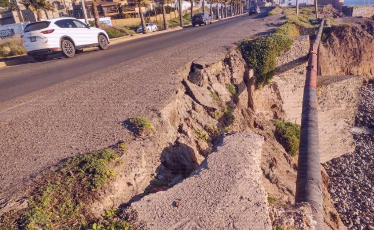 Modernización del puerto El Sauzal provoca hundimiento de carretera