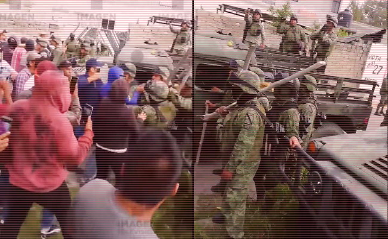 Advierte Sedena que responderá a agresiones contramilitares o GN