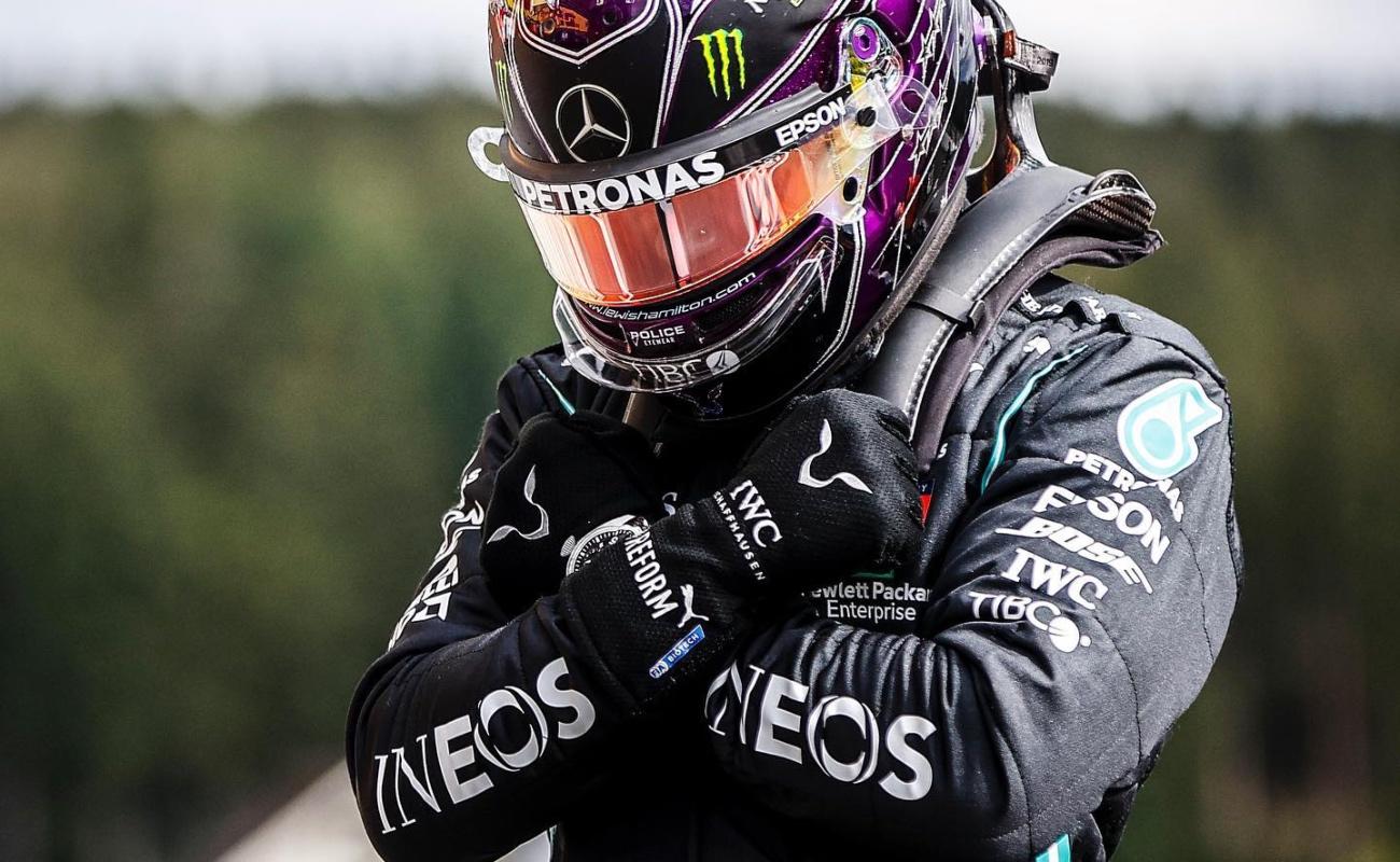 Hamilton dedica a Chadwick Boseman la pole del Gran Premio de Bélgica