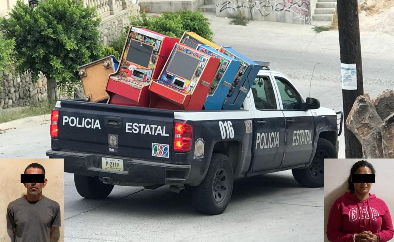 """Decomisan """"maquinitas"""" y droga durante cateo en El Florido"""