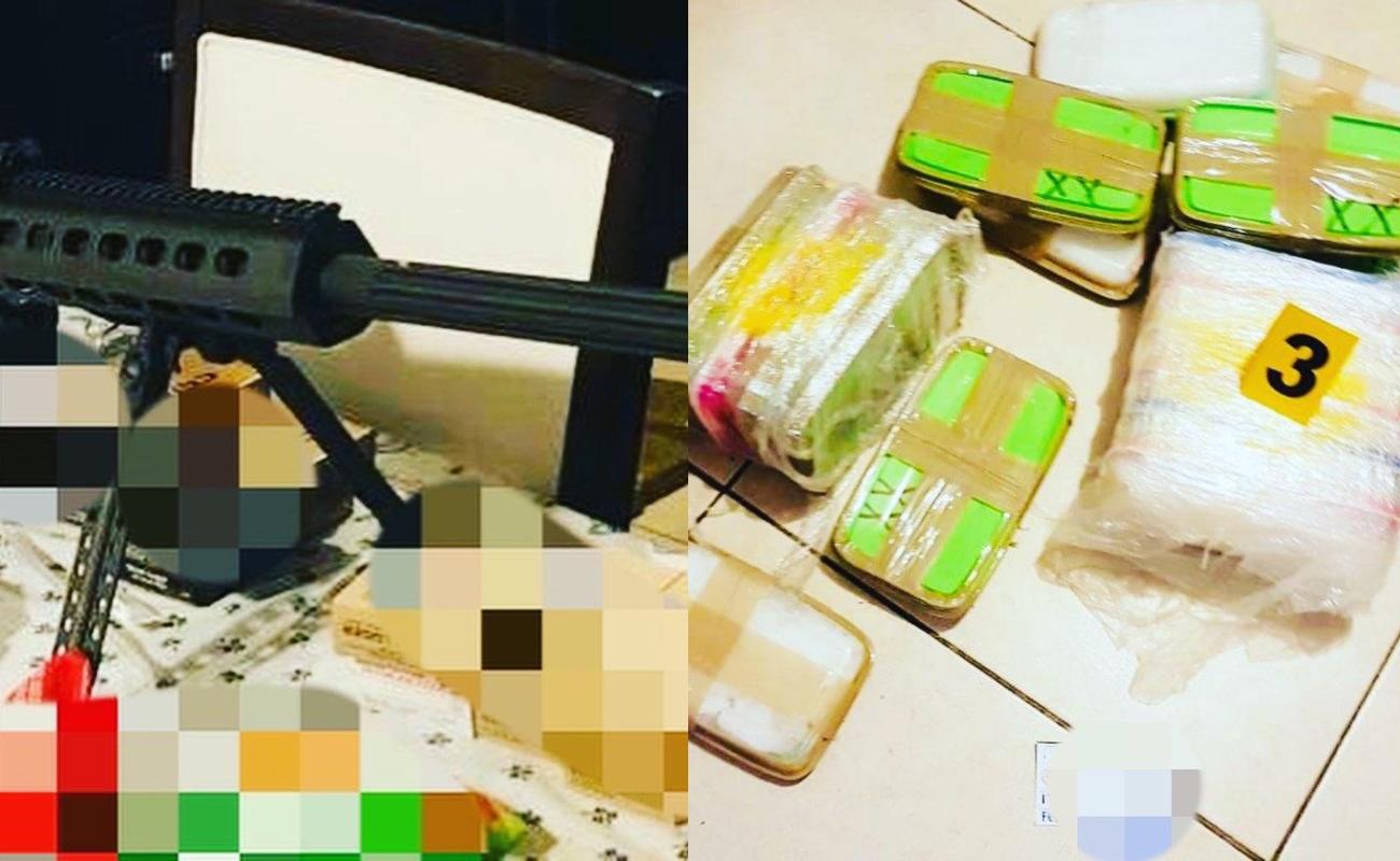 Aseguran fusil, fentanilo y cocaína en la colonia El Lago