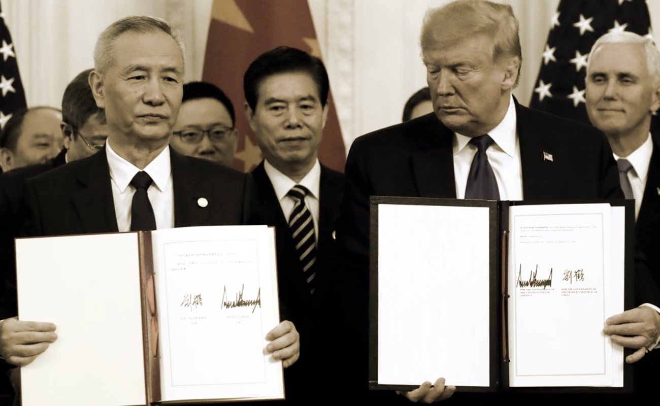 China y EUA firman primera fase del acuerdo comercial