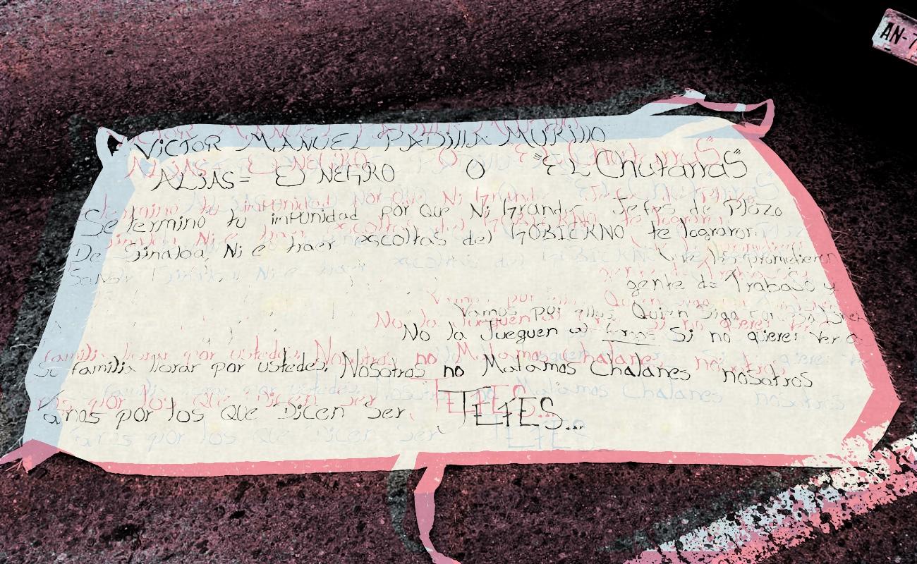"""Tras ejecución de """"El Chatarras"""", amanecen narcomantas en Ensenada"""