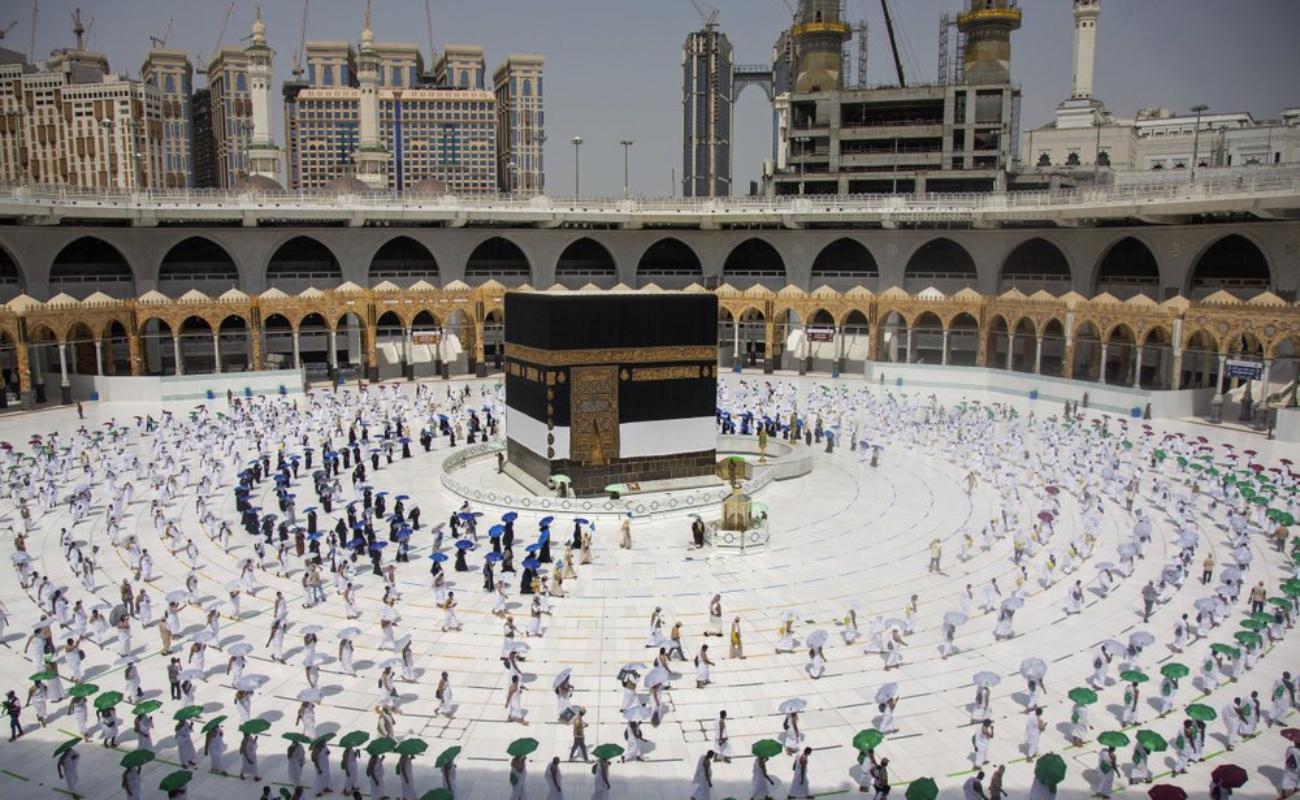 Peregrinos musulmanes celebran el Hajj en La Meca