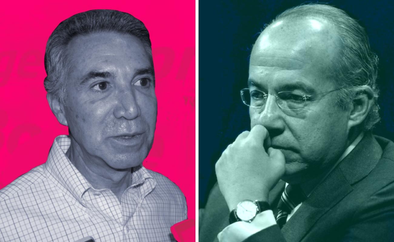 """""""Pelean"""" Madrazo y Calderón por la elección de 2006"""