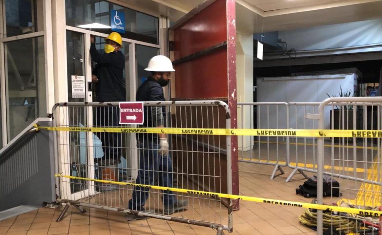 Arrancan trabajos para reparar elevador de Palacio Municipal