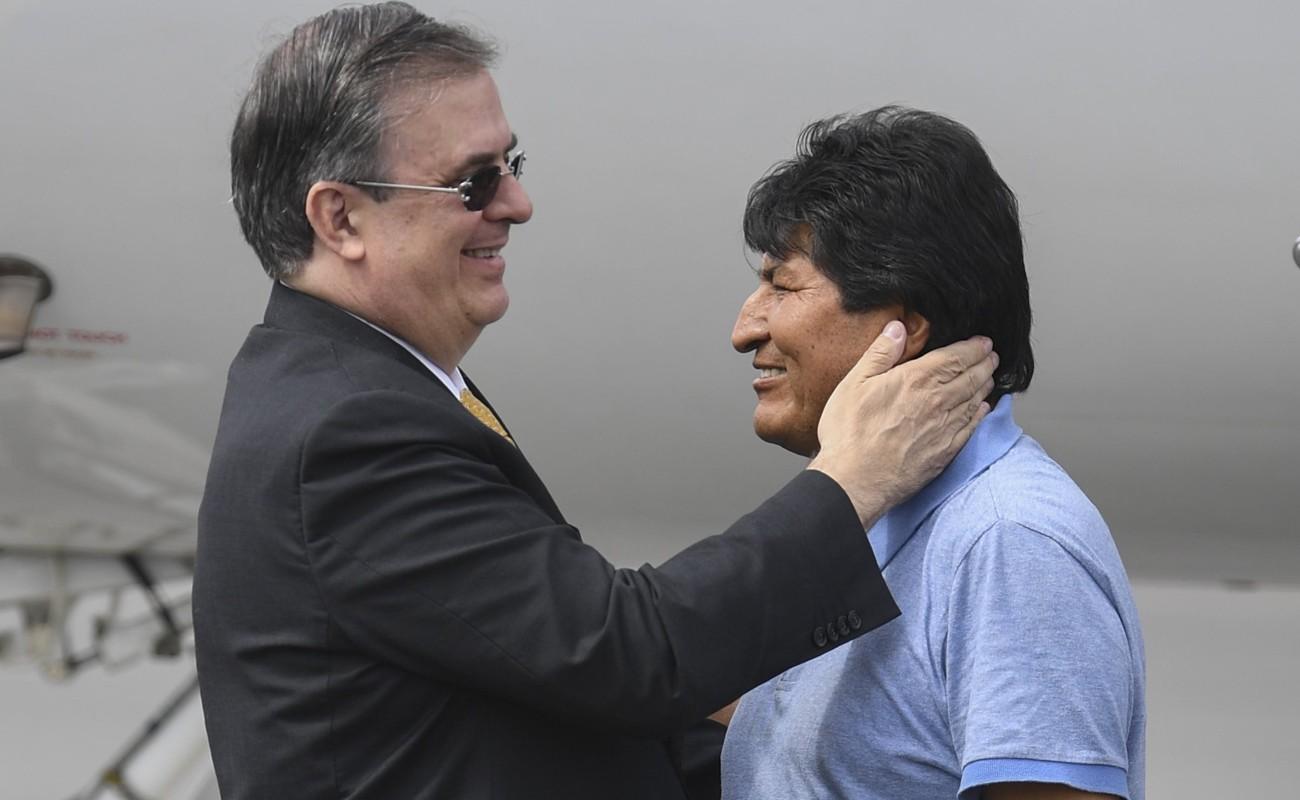 Evo Morales gozará de libertad y seguridad en México, afirma Ebrard