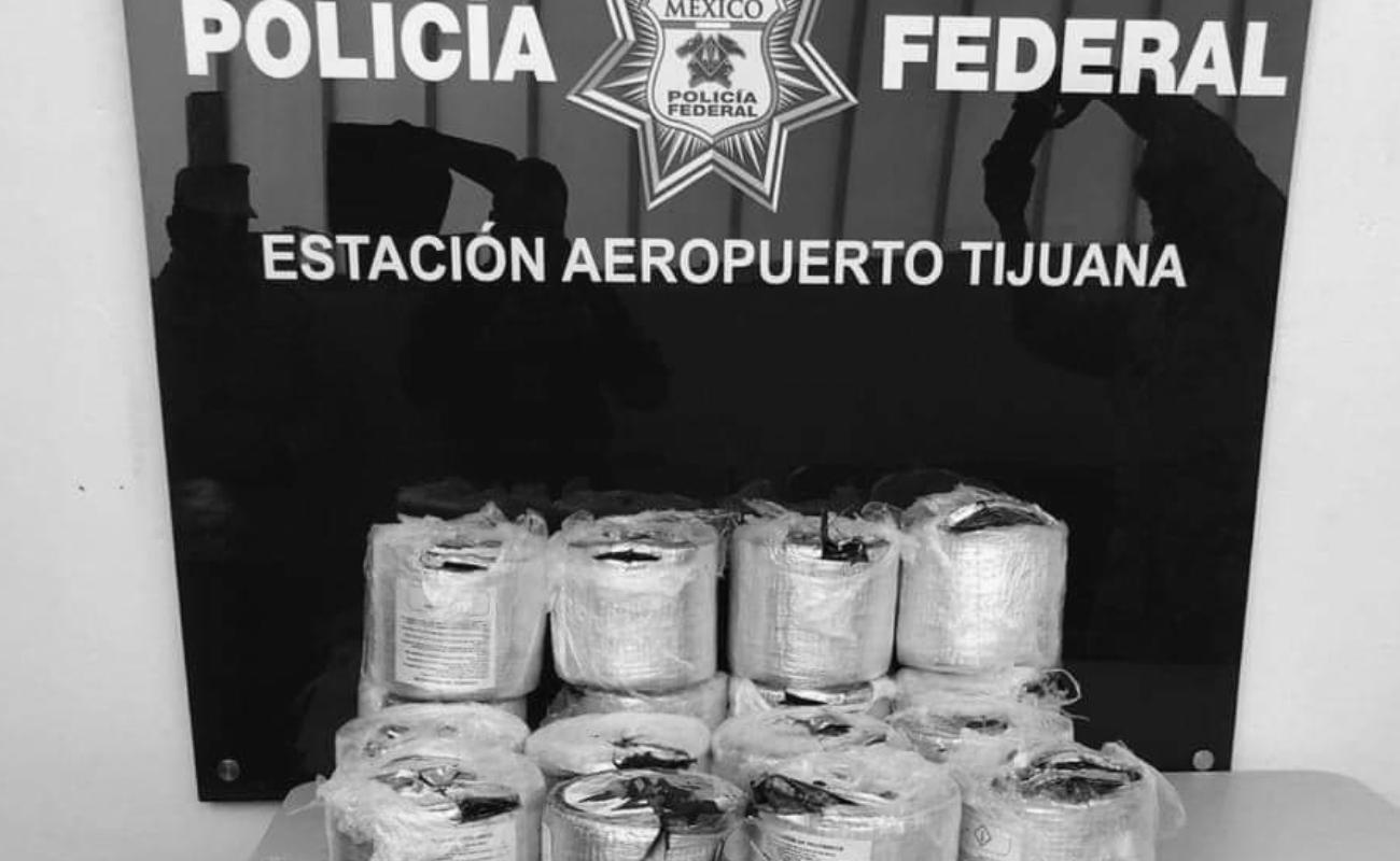 Decomisó Policía Federal más de 65 kilos de cristal en el aeropuerto