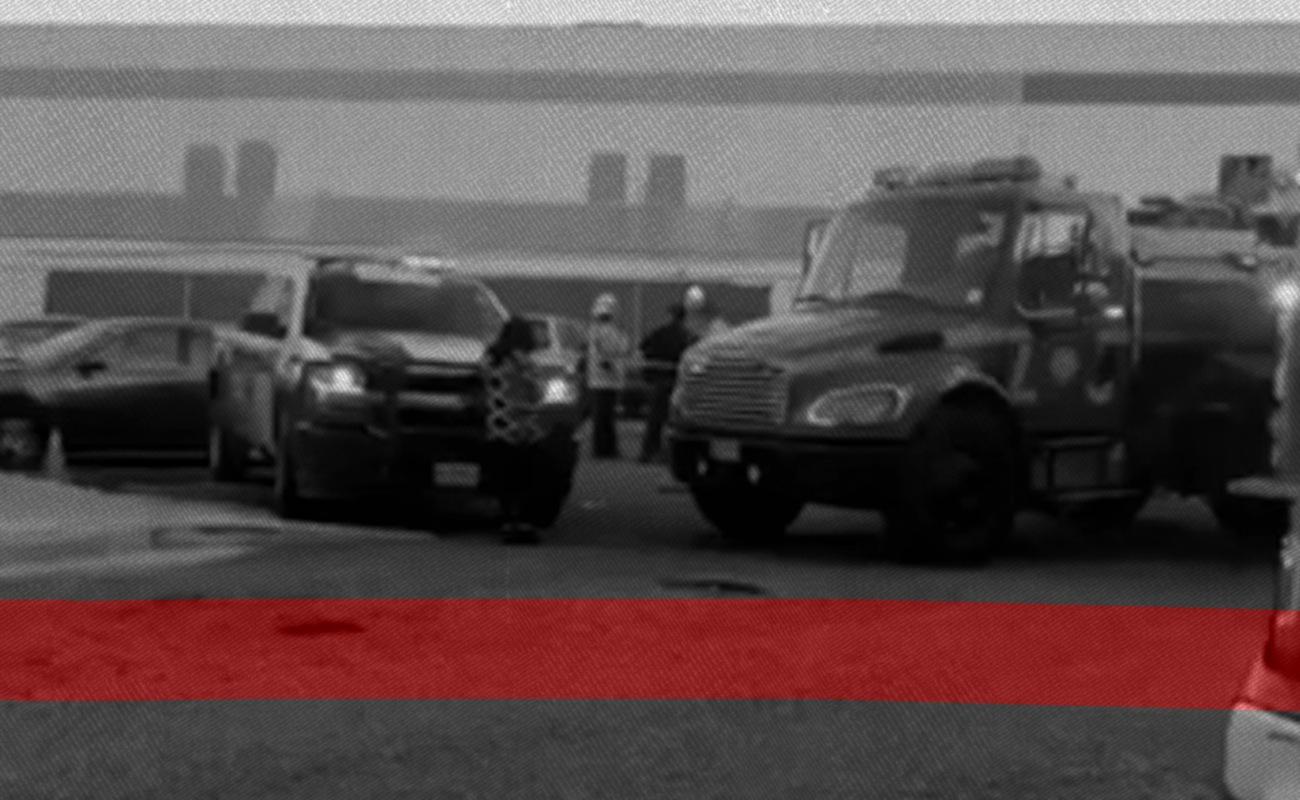 Muere niño calcinado en auto afuera de guardería