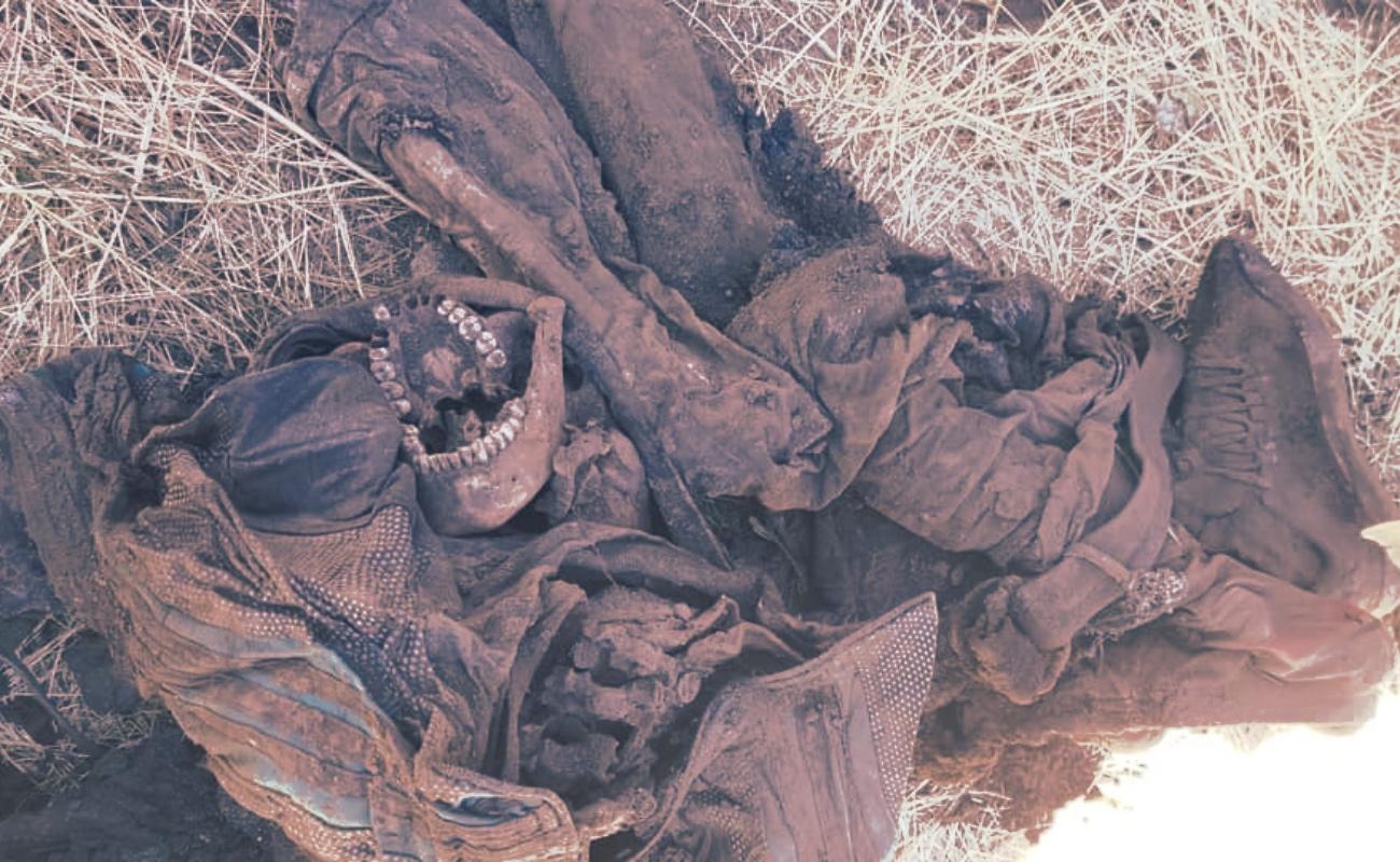 Hallan restos humanos en Loma Tova