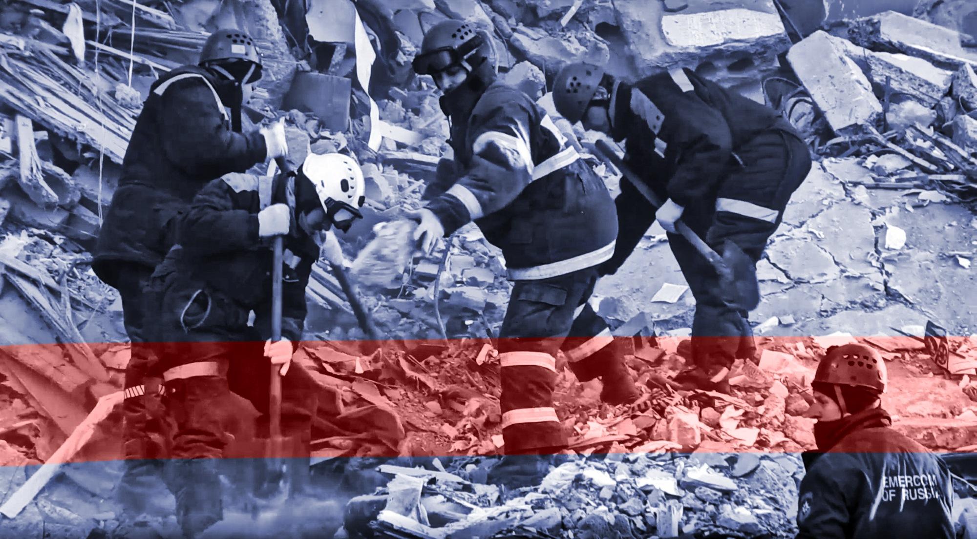 Murieron 39 personas por derrumbe de edificio en Rusia