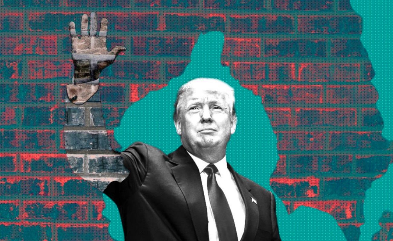 Trump compara la caravana migratoria con lucha contra el Talibán