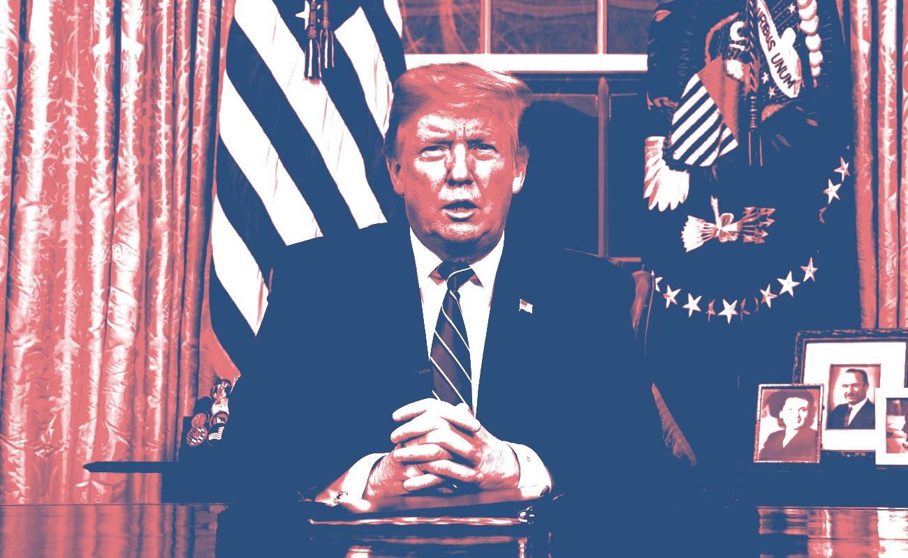 Trump aboga en tv por fondos para muro fronterizo