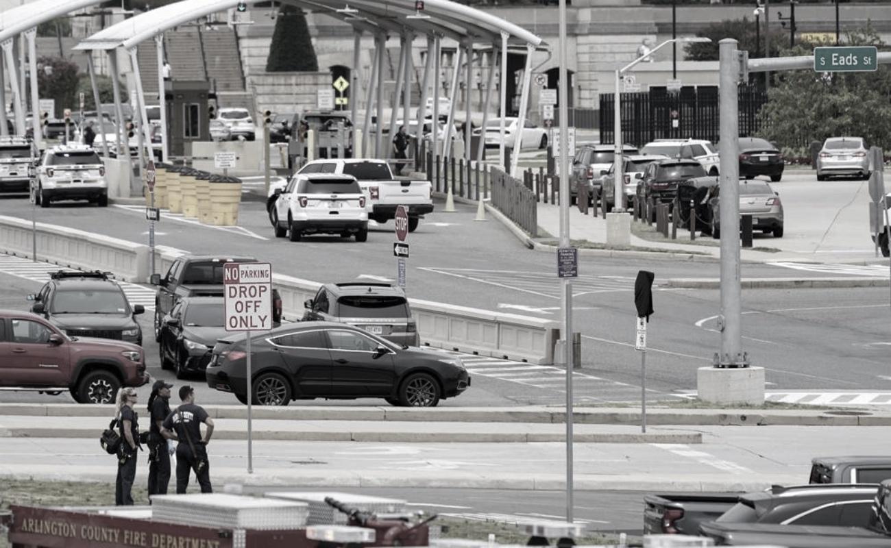 Reportan cierre temporal del Pentágono por tiroteo en estación de autobuses