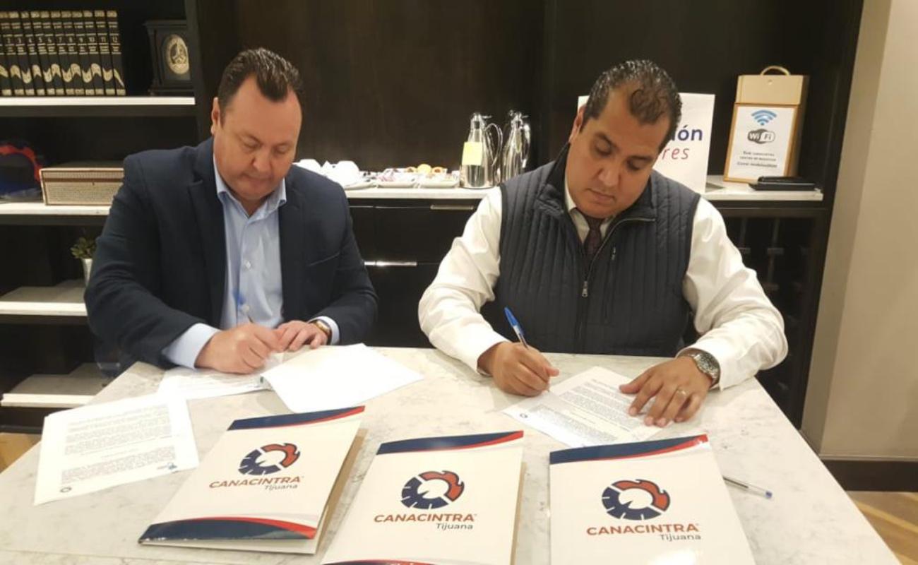 Firman alianza Canacintra e Indexpara fomentar la proveeduría local