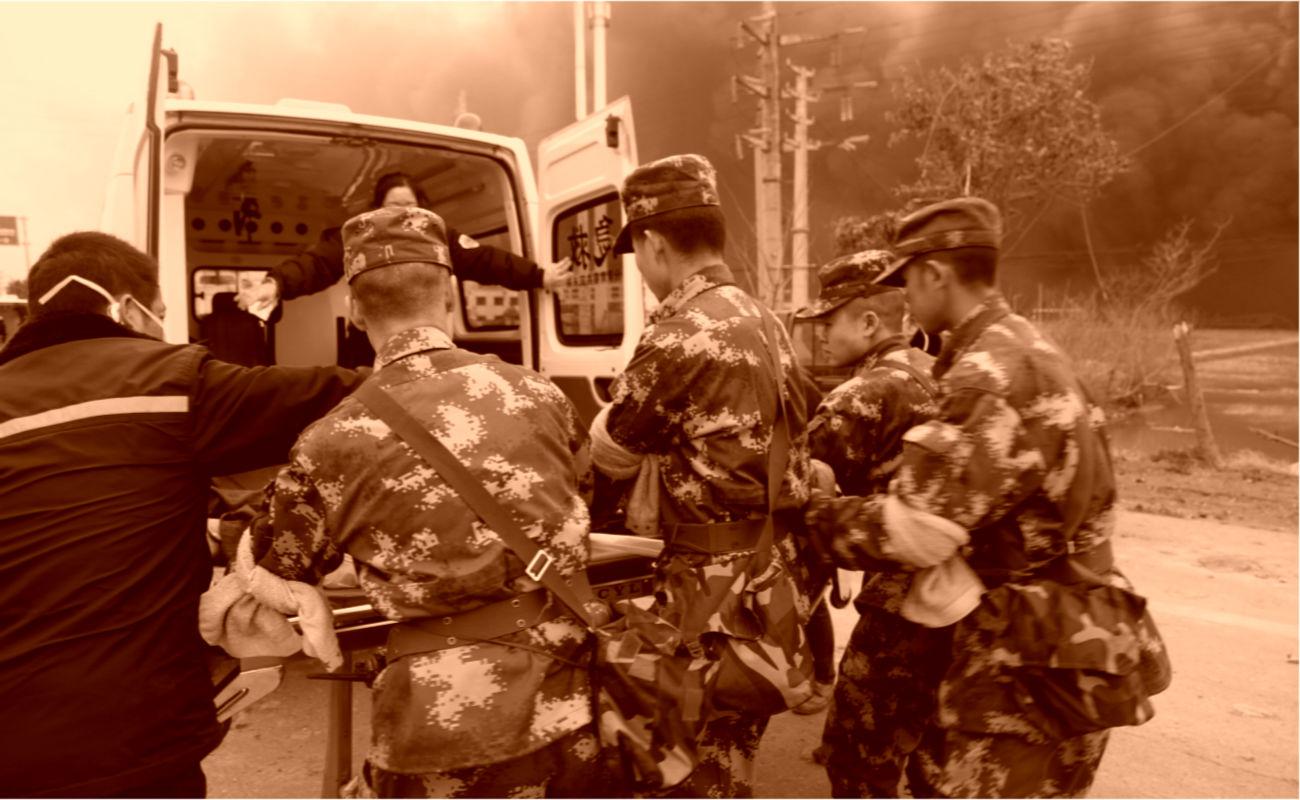 Suman 64 muertos y 28 desaparecidos tras explosión en planta en China