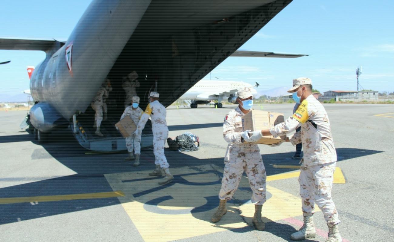 Llegan 5 toneladas de insumos médicos a Baja California