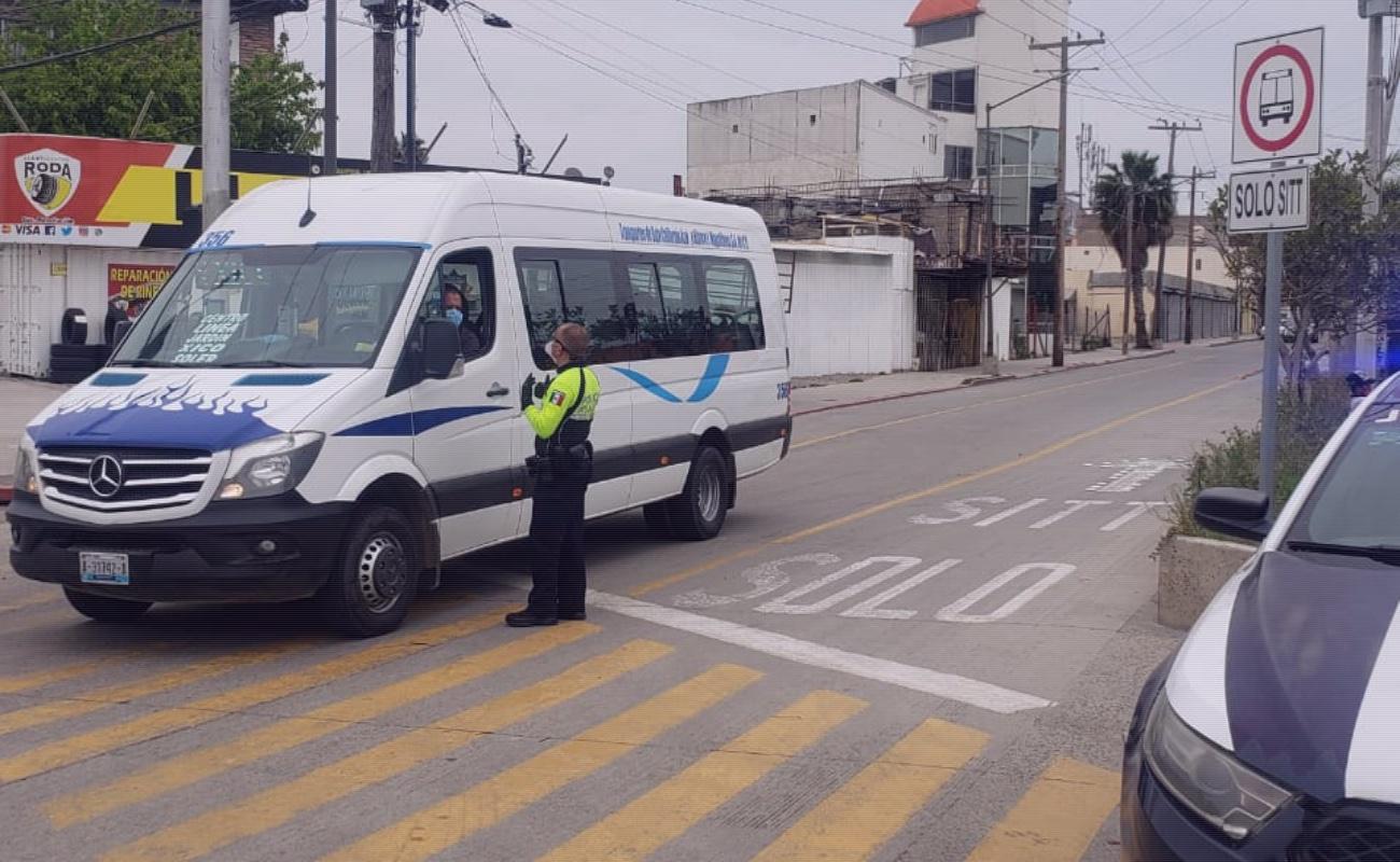 Reportan 50% menos tránsito vehicular y de personas en Tijuana por Covid-19