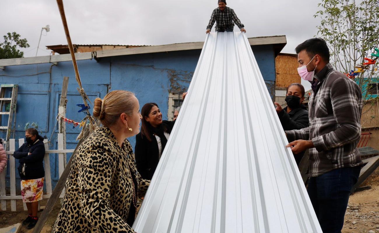 Arranca programa de entrega de láminas para viviendas en colonias vulnerables