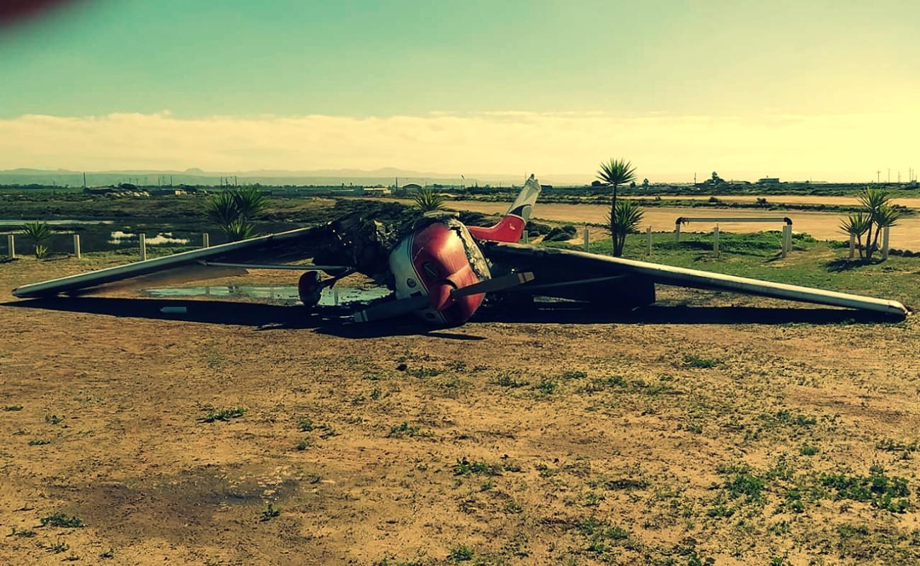 Ardió avioneta en San Quintín