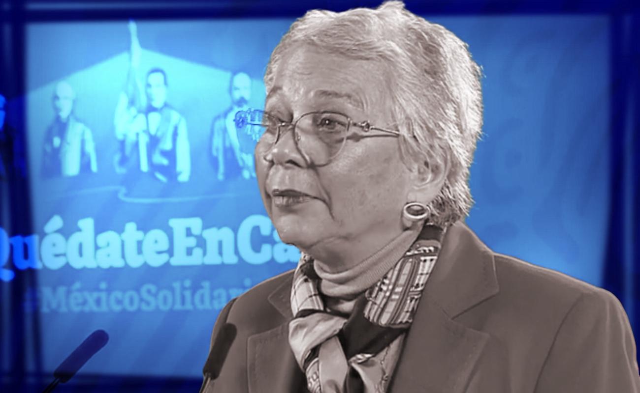 Es buena la salud de López Obrador y está optimista:Sánchez Cordero