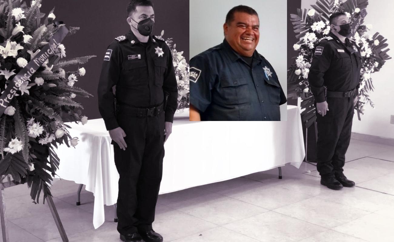 Despiden con honras a policía fallecido por Covid-19