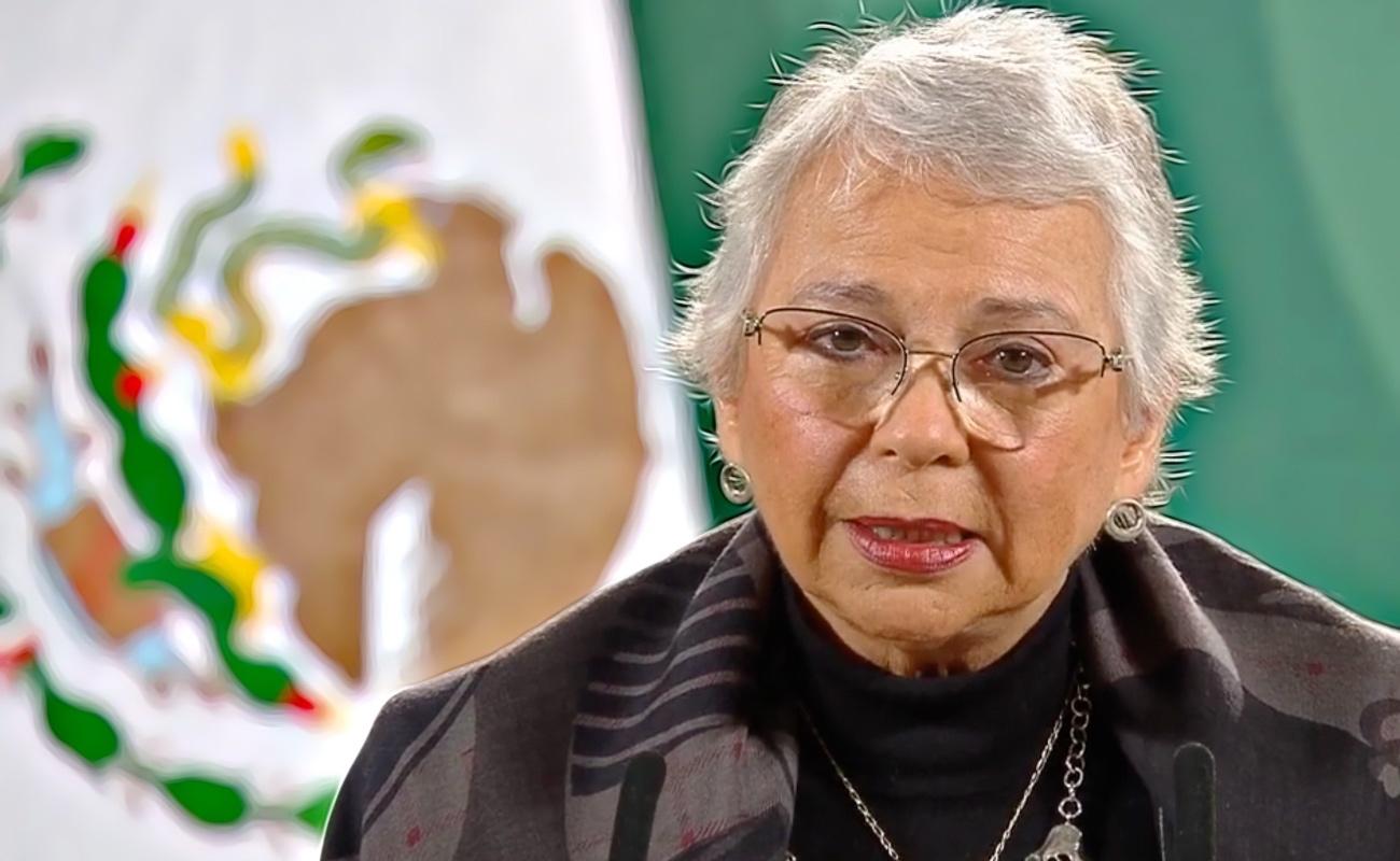López Obrador está en pleno ejercicio de sus funciones: Sánchez Cordero