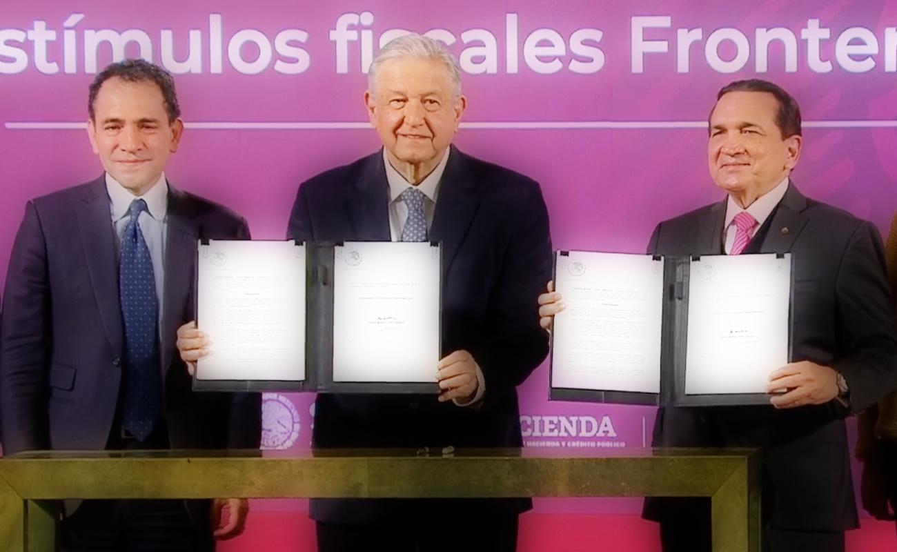 Firma López Obrador decreto para otorgar estímulos fiscales a la Frontera Sur