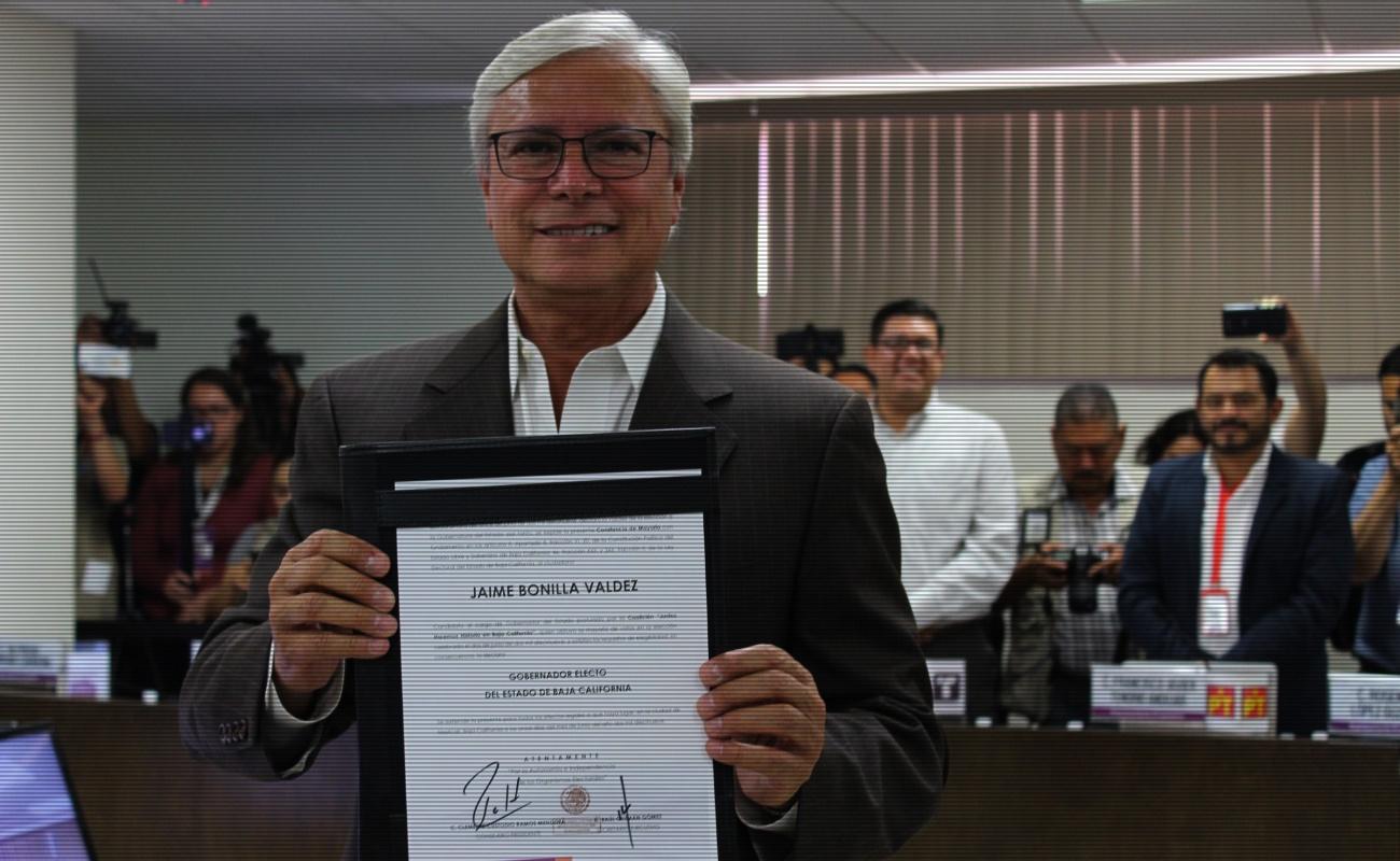 Jaime Bonilla Valdez ya es gobernador electo de BC; gobernará 2 años