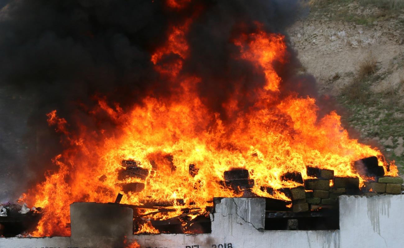 Incineran más de 5 toneladas de drogas en Tijuana