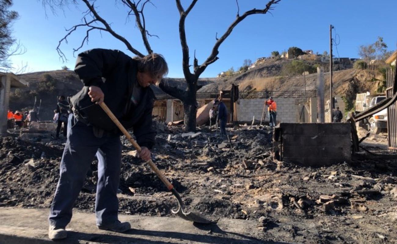Para seis familias de La Sierra en 10 minutos se acabó todo