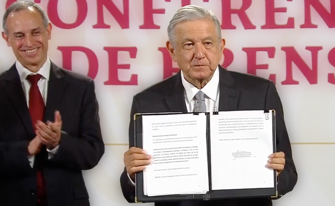 López Obrador presentará al Senado solicitud de consulta sobre juicio a expresidentes