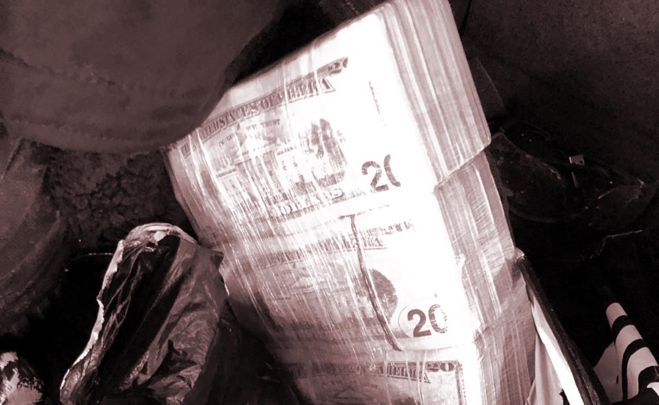 Decomisan 50 mil dólares en autobús que salió de Tijuana a Michoacán
