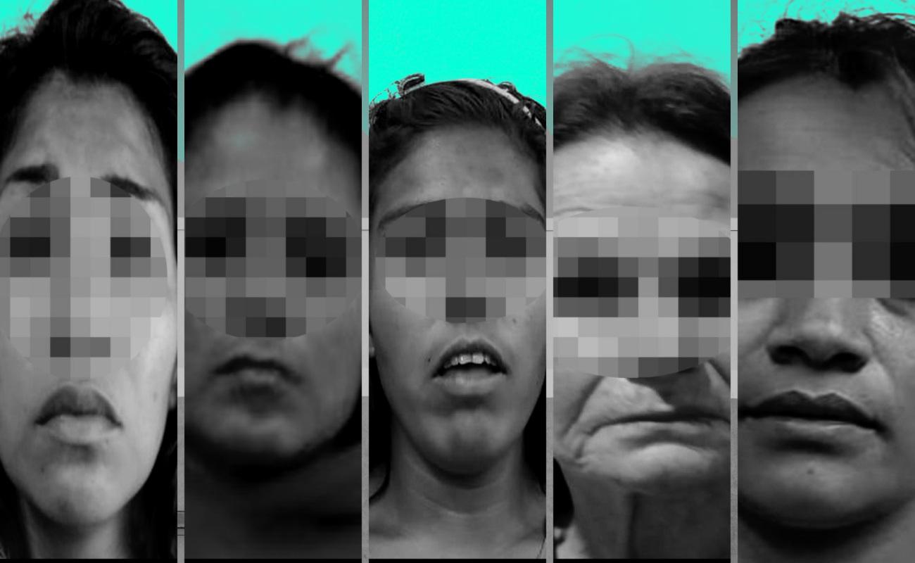 Detienen a cinco mujeres; cuatro por tráfico de drogas y una por asesinato